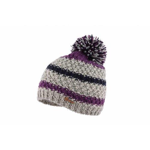 Herman Headwear Herman Justin Grey/Purple Multi Beanie