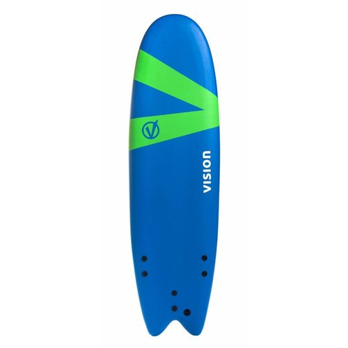 Vision Vision Softlite Royal Blue/Green Swallow Tail 6'6''