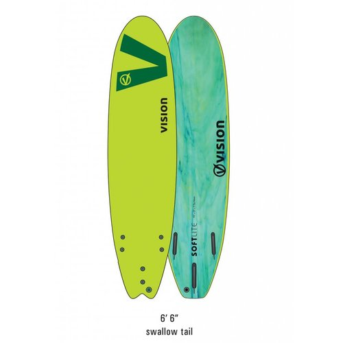 Vision Vision Softlite Green Swallow Tail 6'6''