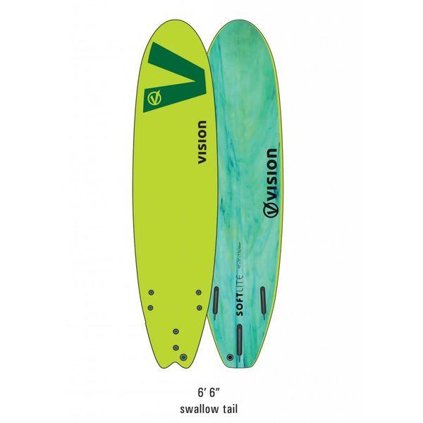 Vision Softlite Green Swallow Tail 6'6''