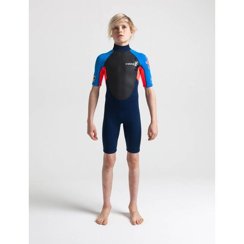 C-Skins C-Skins Element 3/2 Kids Wetsuit Shorty Rood/Blauw