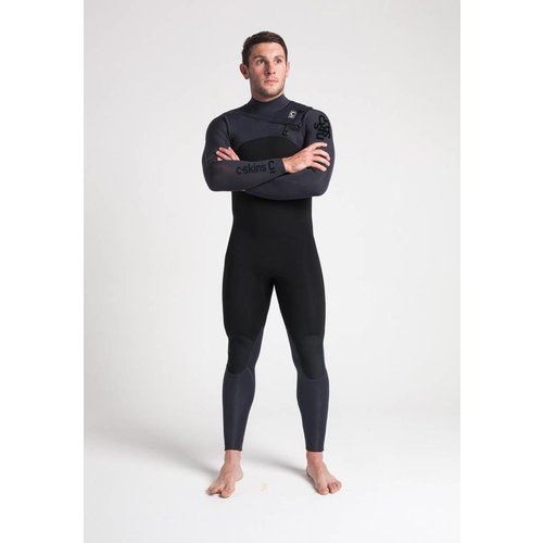 C-Skins C-Skins ReWired 5/4 Heren Winter Wetsuit Black/Anthracite