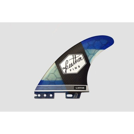 Feather Fins Feather Fins FCS II Carbonflex Thruster Fins Blue