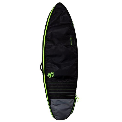 Creatures of Leisure Creatures Shortboard Double Charcoal/Lime Boardbag