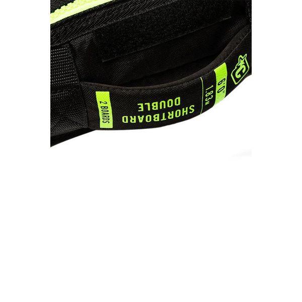Creatures Shortboard Double Charcoal/Lime Boardbag