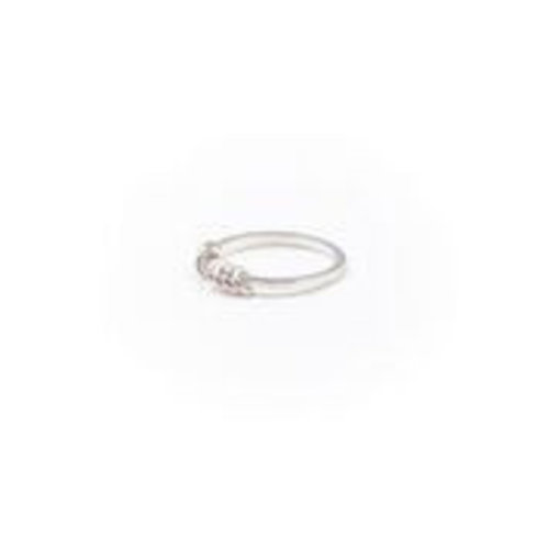 A Little Lem A Little Lem Olivia Hoop Silver Ring