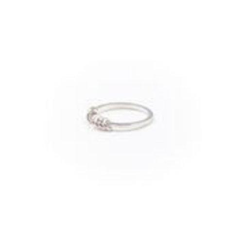 Little Lem Little Lem Olivia Hoop Silver Ring