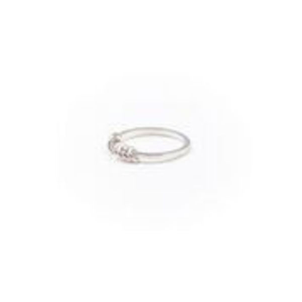 A Little Lem Olivia Hoop Silver Ring