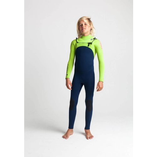 C-Skins C-Skins Legend 4/3 Kids Summer Wetsuit InkBl/Lime/FloRed