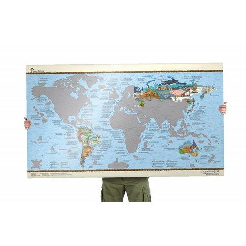 Surftripmap Wereldkaart Bucketlist Scratch Map