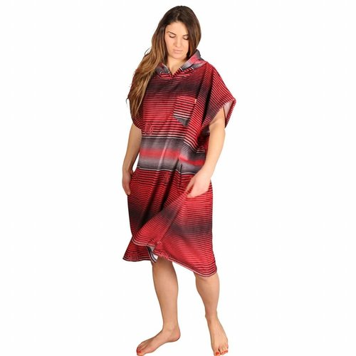 After Essentials After Surf Poncho Stripes Red