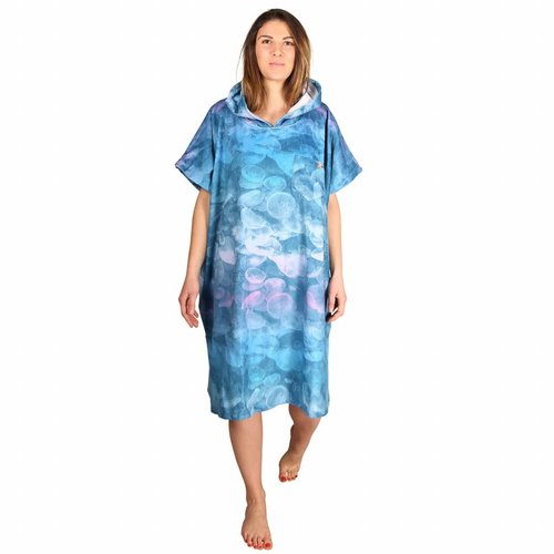 After Essentials After Surf Poncho Jelly Fish Ocean Blue