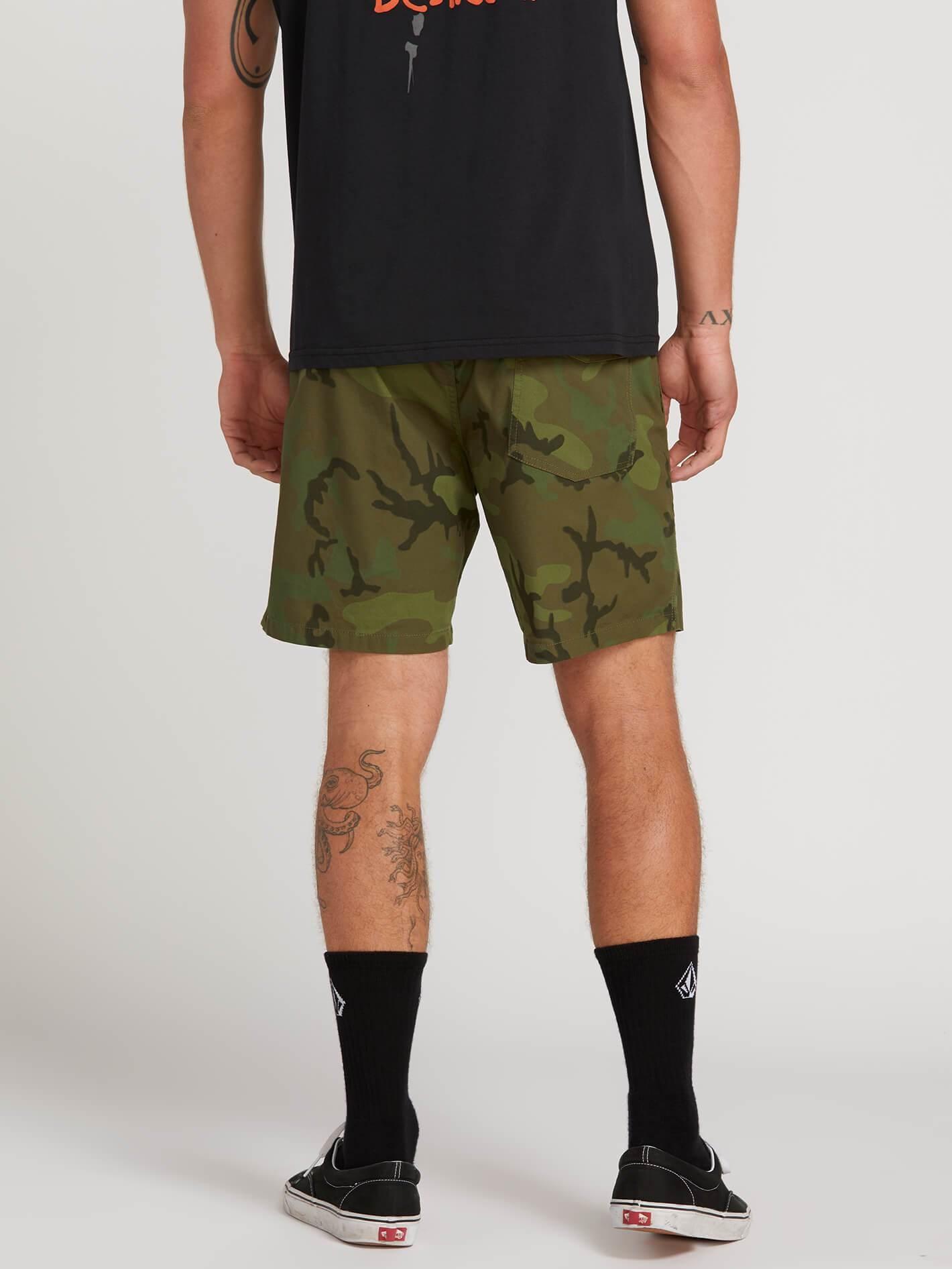 Korte Broek Camouflage Heren.Volcom Heren Deadly Stones Shorts Camouflage Verkrijgbaar Bij Aloha