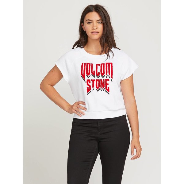 Volcom Dames Drama Shift Crew Sweater White