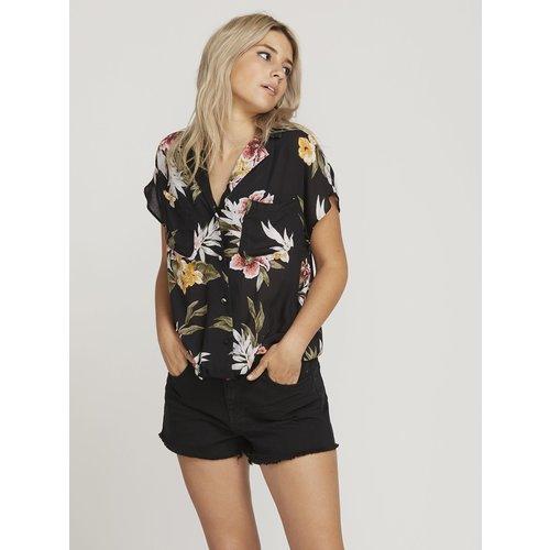 Volcom Volcom Dames Rag'N Flower Shirt Black Combo