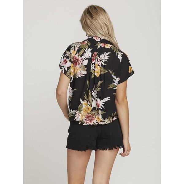 Volcom Dames Rag'N Flower Shirt Black Combo