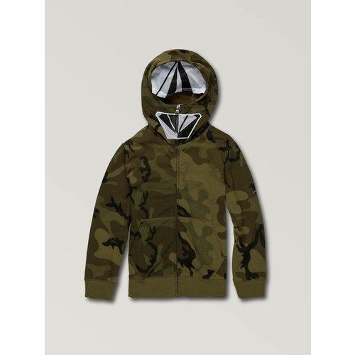 Volcom Volcom Kids Cool Stone Full Zip Hoodie Camouflage