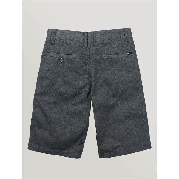 Volcom Kids Frickin Chino Shorts Charcoal Heather