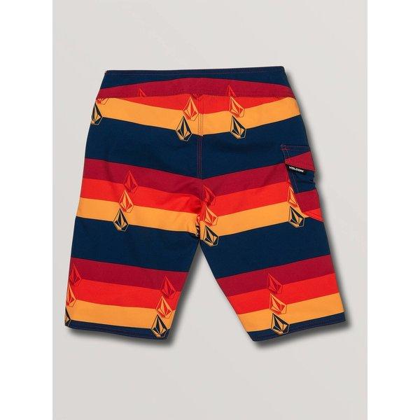 Volcom Kinder Lido Liney Mod Boardshorts Indigo