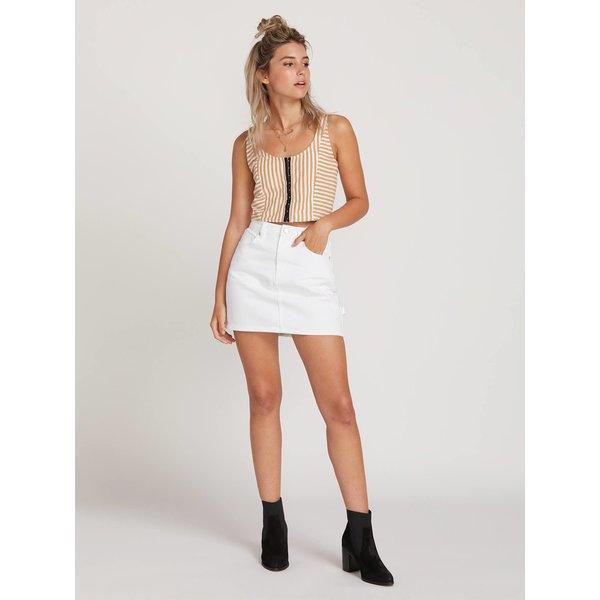 Volcom Dames Fix It Mini Skirt White