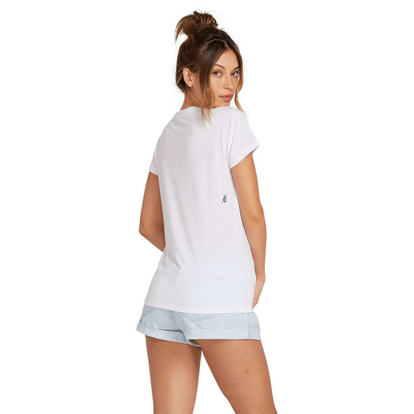 Volcom Dames Easy Babe Rad 2 Tee White