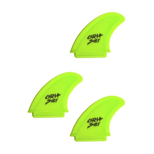 Catch Surfboards Catch Odysea Safety Edge Tri Fin Set Lime