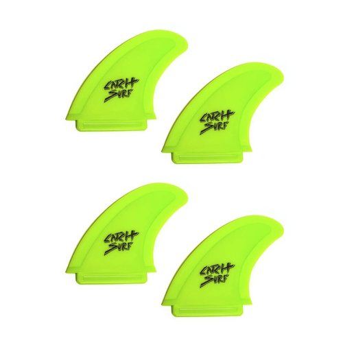 Catch Surfboards Catch Odysea Safety Edge Quad Fin Set Lime