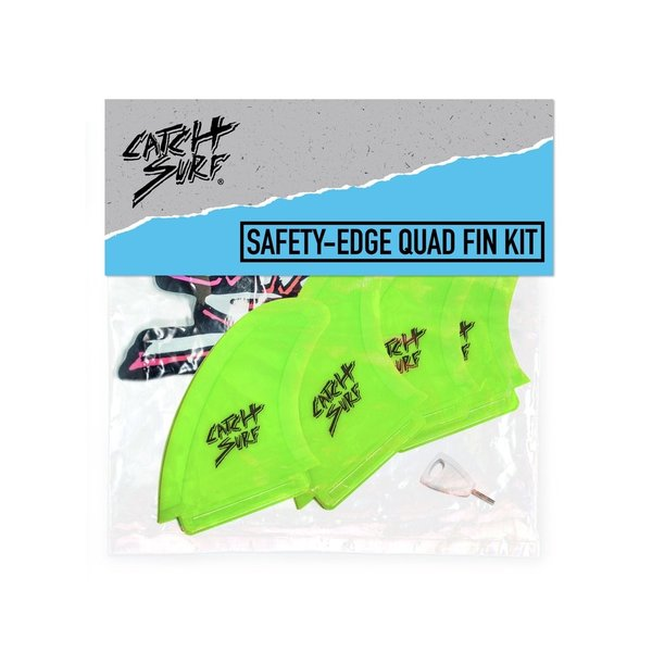 Catch Odysea Safety Edge Quad Fin Set Lime