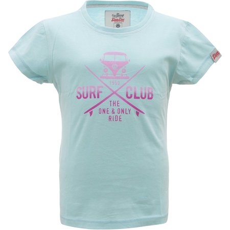Van One Van One Kinder Surf Club Tee Light Blue Pink