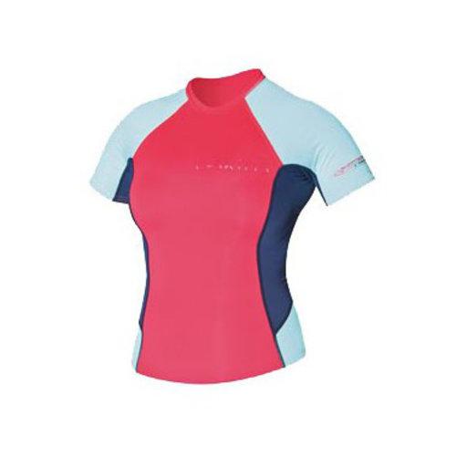 C-Skins C-Skins Dames Lycra Short Sleeve Red/Blue/Coral