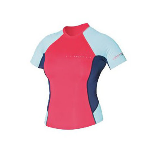C-Skins C-Skins Women's Lycra Short Sleeve Red/Blue/Coral