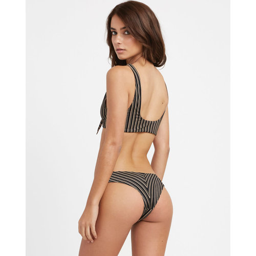 RVCA RVCA Dames Amalfi Cheeky Bikini Bottom Black