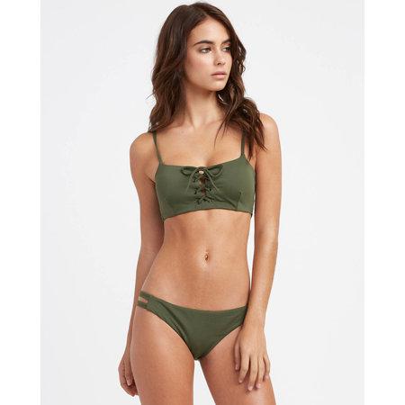 RVCA RVCA Women's Solid Laced Bikini Top Forest