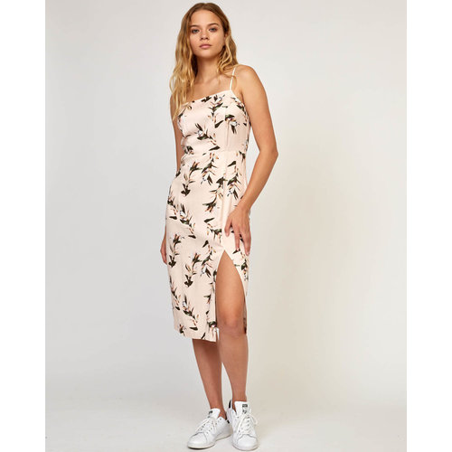 RVCA RVCA Women's Fancy That Floral Dress Pumice Stone
