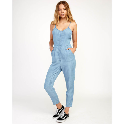 RVCA RVCA Dames Flasher Chambray Jumpsuit