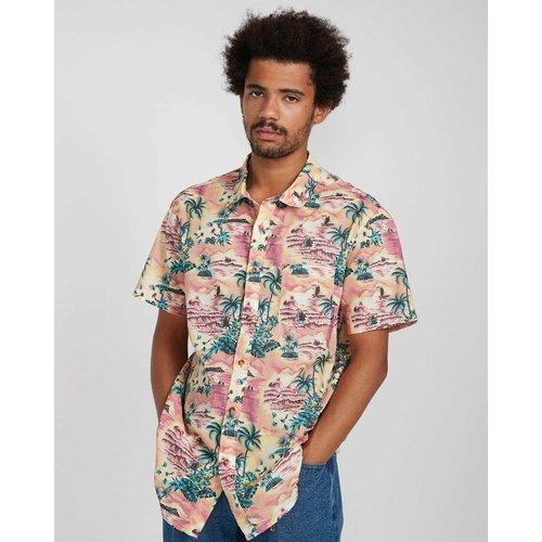 Billabong Billabong Heren Sundays Floral Shirt Coral