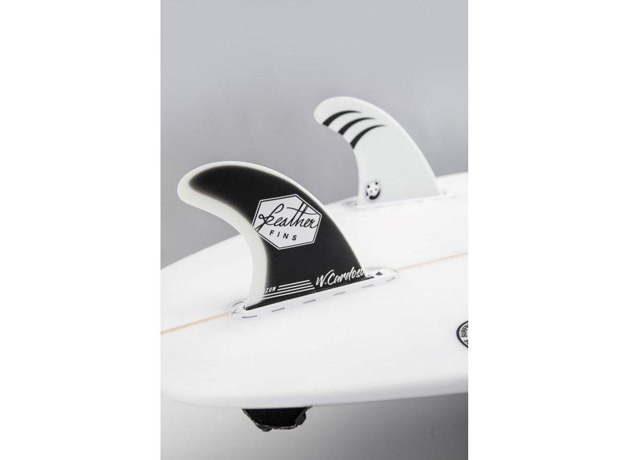 Feather Fins Single Tab Signatures Willian Cardoso Fiberglass Thruster Fins Panda