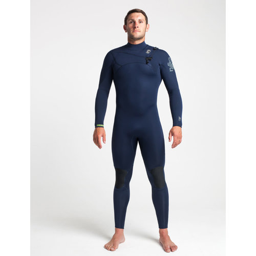C-Skins C-skins ReWired 4/3 Men's Summer Wetsuit Slate/Diamond/Lime