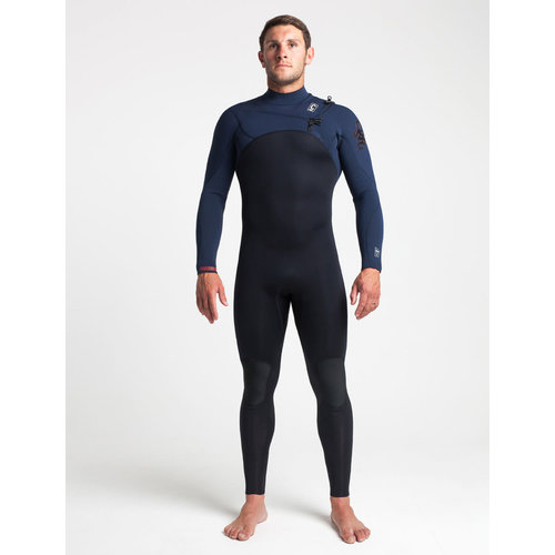 C-Skins C-skins ReWired 3/2 Heren Zomer Wetsuit Bl/Slate/Diamond/WarmRed
