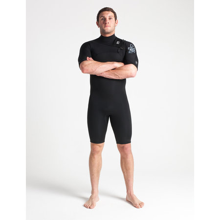 C-Skins C-skins Session 3/2 Heren Wetsuit Shorty Bl/Black/Silver/Grey