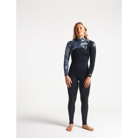 C-Skins C-Skins ReWired 4/3 Dames Zomer Wetsuit Raven/Bl/Shade/IceBlue