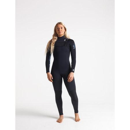 C-Skins C-Skins Solace 4/3 Dames Zomer Wetsuit Raven/Bl/Coral/BlueStone