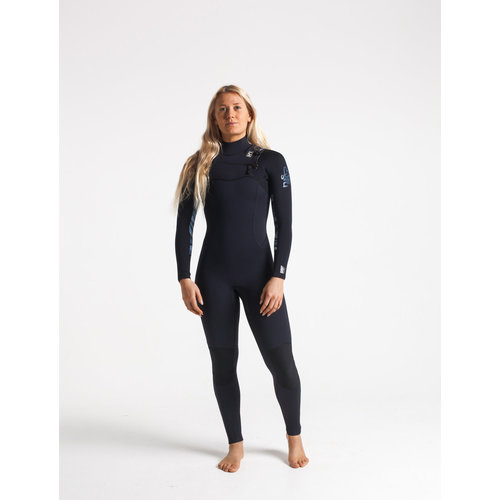 C-Skins C-Skins Solace 4/3 Dames Zomer Wetsuit Raven/Bl/Coral/BlueStone