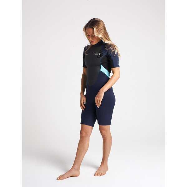 C-Skins Element 3/2 Dames Wetsuit Shorty Slate/Black/IceBlue