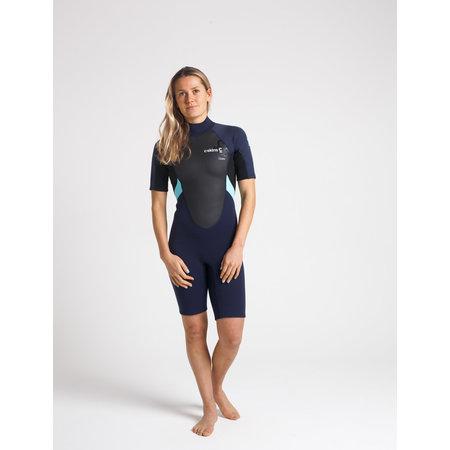 C-Skins C-Skins Element 3/2 Dames Wetsuit Shorty Slate/Black/IceBlue