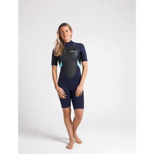 C-Skins C-Skins Element 3/2 Dames Wetsuit Shorty Slate/Black/IceBlue