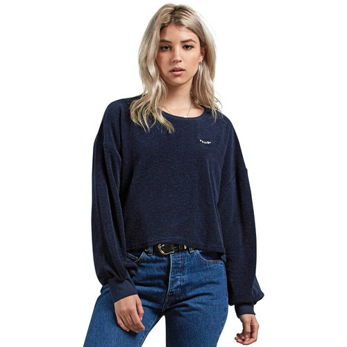 Volcom Volcom Dames Recommended 4 Me Sea Long Sleeve Navy