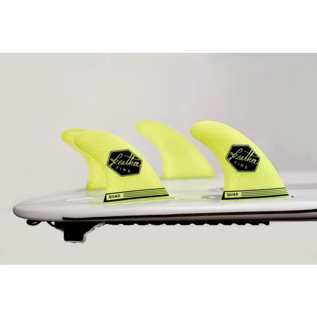 Feather Fins Feather Fins Futures Ultra Light Quad Fins Yellow