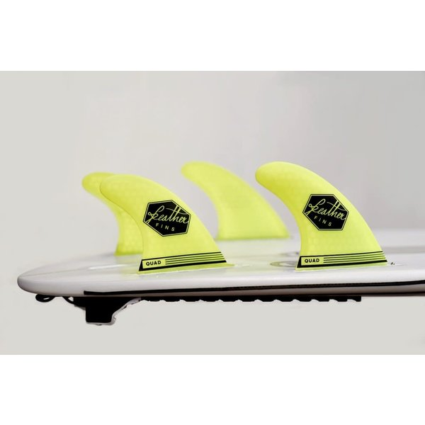 Feather Fins Futures Ultra Light Quad Fins Yellow