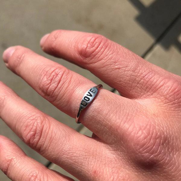 At Aloha Love Silver Ring